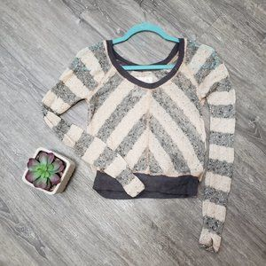 We The Free Cropped Open Knit Sweater XS